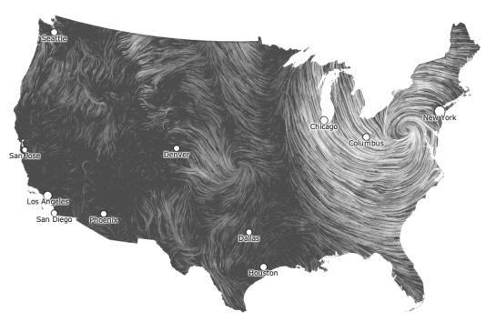 Wind map