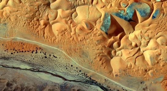 Satellite view - Sahara