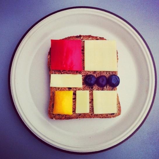 Ida Frosk - Art Toast Project - Piet Mondrian