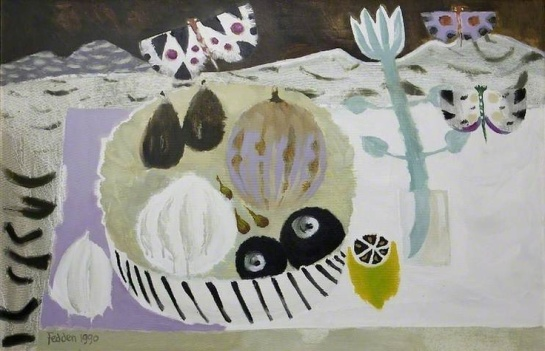 Mary Fedden - Butterflies and Fruit