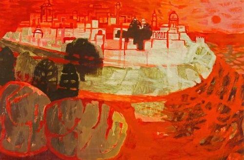 Mary Fedden - Maltese Town