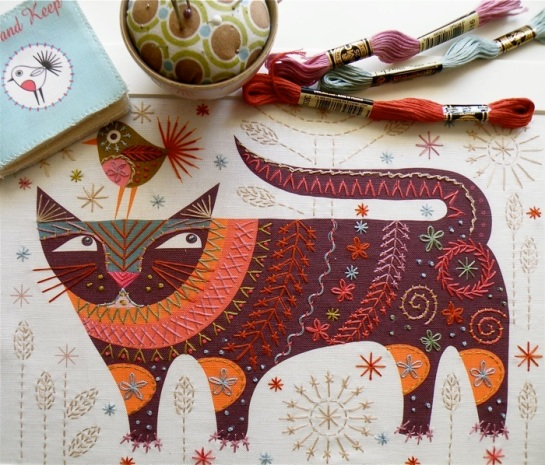 Stitch kits by Nancy Nicholson