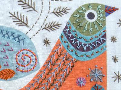 Stitch kits by Nancy Nicholson