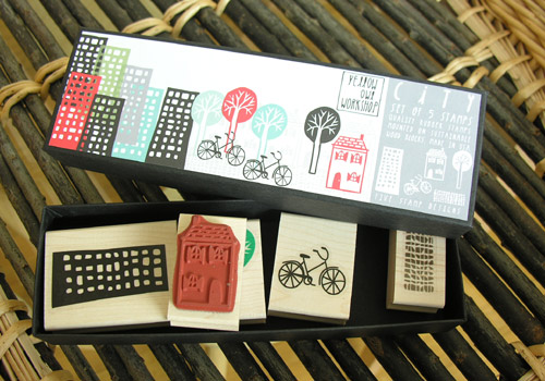 Tinsmiths stamp sets - City