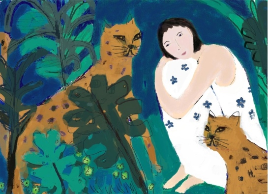 Barbara Perrine Chu - Woman with Spirit Animals
