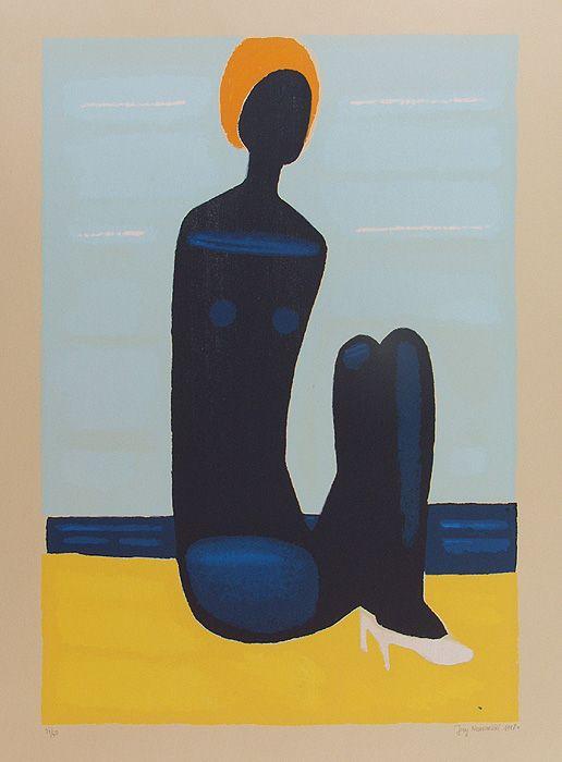 mapart.me:   Jerzy Nowosielski - Black Swimmer