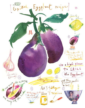 Lucile Prache - Grilled eggplant recipe