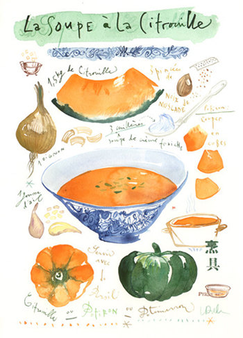 Lucile Prache - Pumpkin soup recipe