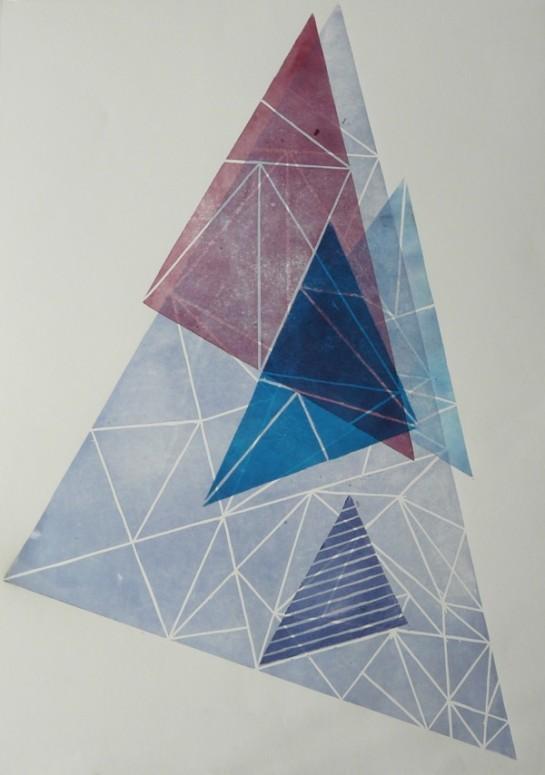 mapart.me:   Nina Gregier - Linocut Triangles