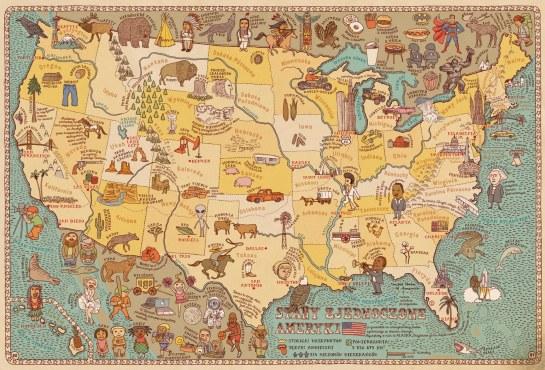 Mizielińscy - Maps (USA)